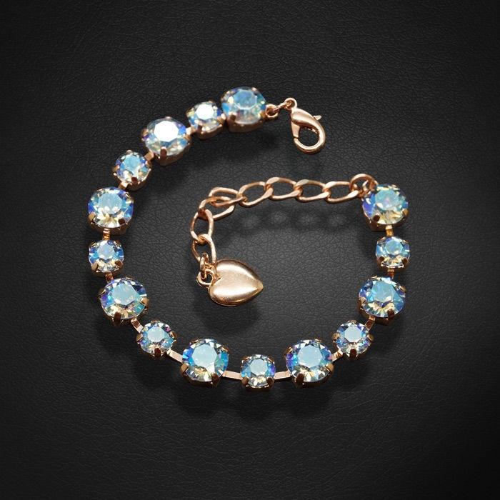 Diamond Sky Bracelet Classic IV Light Sapphire Shimmer With Swarovski Crystals