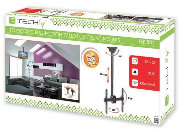 Techly Ceiling Mount for LED/LCD 32''-55'' Black