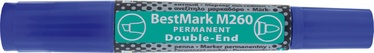 Stanger BestMark M260 Permanents Double End Marker 8pcs Blue
