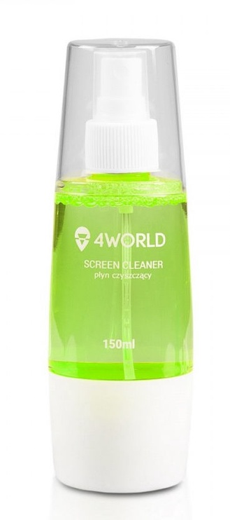 4World Cleaning Kit 150ml+Cloth Green