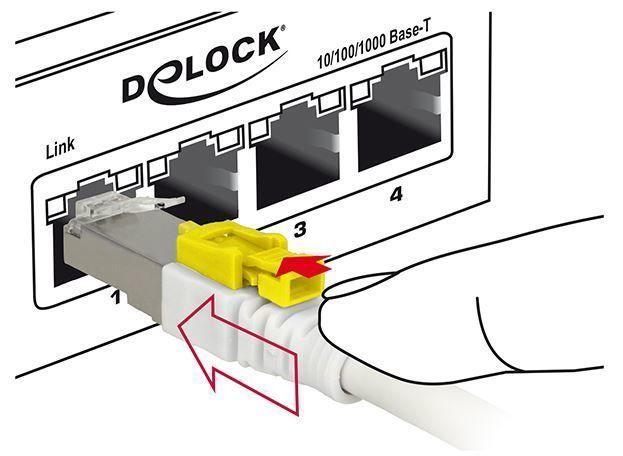 Juhe Delock Cable RJ45 Secure Cat. 6A 2m White