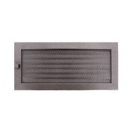 NORDFlam Fireplace Grill 370x170mm with Blinds Silver