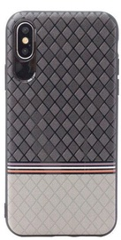 Mocco Trendy Grid And Stripes Pattern 2 Back Case For Samsung Galaxy S8 Plus Grey