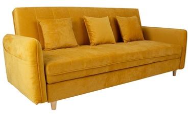 Dīvāngulta Home4you Hetty 11404, dzeltena, 90 x 217 x 90 cm