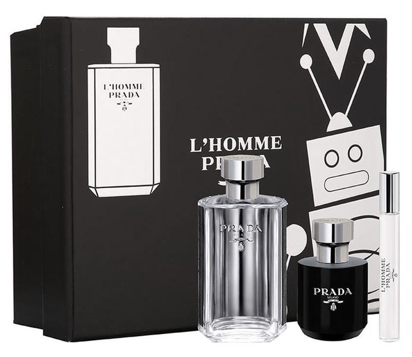 Prada L'Homme Prada 100ml EDT + 100ml Shower Cream + 10ml EDT