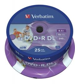 Накопитель данных Verbatim 25x DVD+R DL 8.5GB 8x