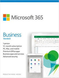 Microsoft Office 365 Business Standard Retail 1-Year Estonian License Medialess