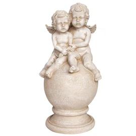 Statula du angeliukai ant rutulio, 23.5 x 23.5 x 43.5 cm