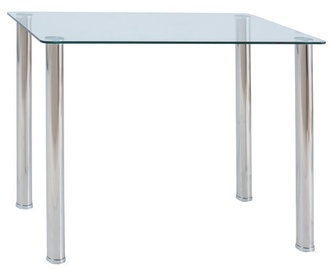 Pusdienu galds Signal Meble Ted Transparent, 1000x600x750 mm