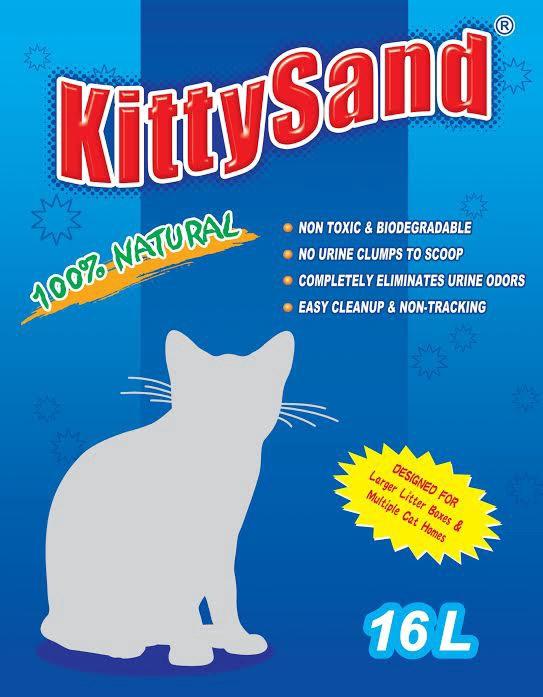 Kačių kraikas KittySand, silikagelinis, 16 l