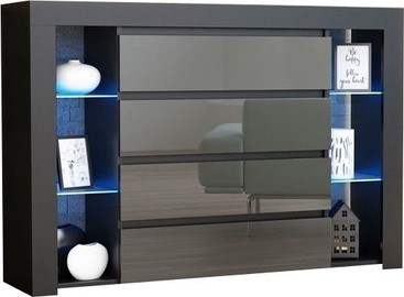 Pro Meble Milano 4SZ With Light Black/Grey