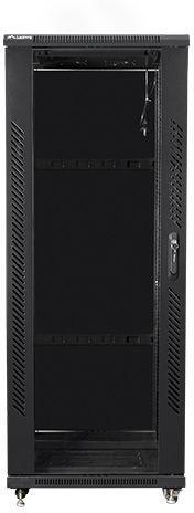 "Серверный шкаф Lanberg Rack Cabinet 19"" Free-Standing 32U/600x800 Self-Assembly Flat Pack Black"