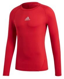 Adidas Alphaskin Sport Long Sleeve Top CW9490 Red XL