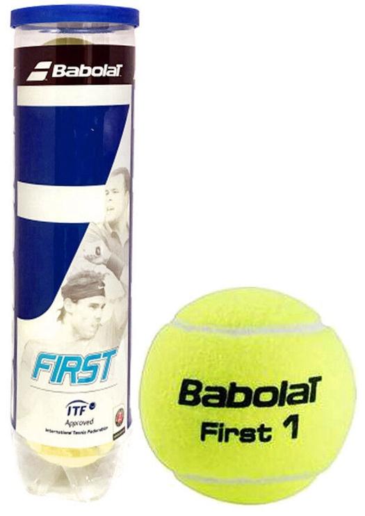 Tennisepall Babolat First, kollane, 4 tk