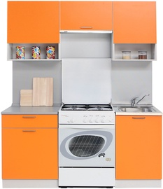 MN Kitchen Unit Simpl 1.7m With Shelve Orange/Grey