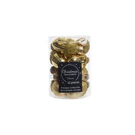 Jõulupuu ehe Decoris 9012520 Gold, 40 mm, 12 tk