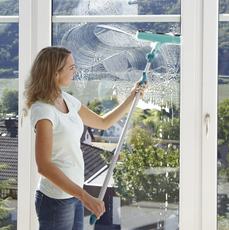 Leifheit Hand Window Cleaner 3 in 1 with Telescopic Handle