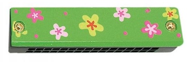 Woody Mouth Harmonica Musical Instrument Green 90710