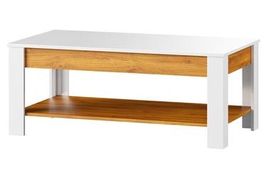 Kohvilaud Szynaka Meble Visio 41 Camargue Oak/White, 1100x450x600 mm
