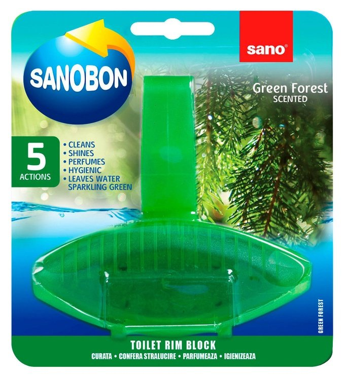 Sano Sanobon Green Forest Toilet Rim Block 55g