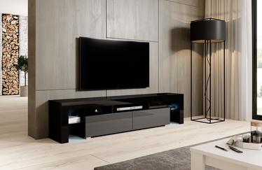 TV galds Cama Meble Toro 200, melna/pelēka, 2000x400x410 mm