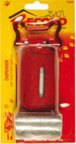 Record Bag Dispenser 7.5x4.5cm Red