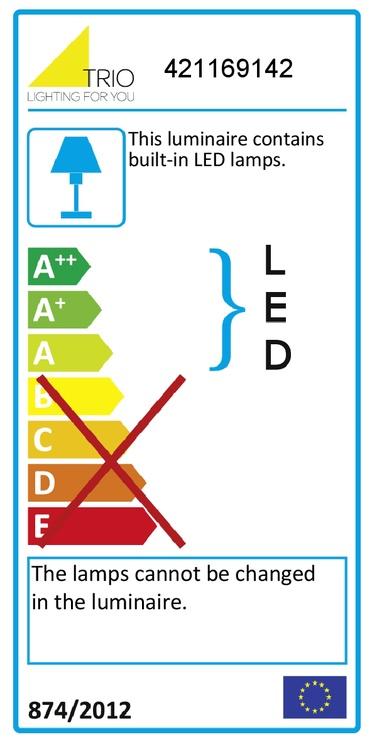 Pastatomas šviestuvas Trio Pearl 421169142, 1 x 9 W, SMD, LED