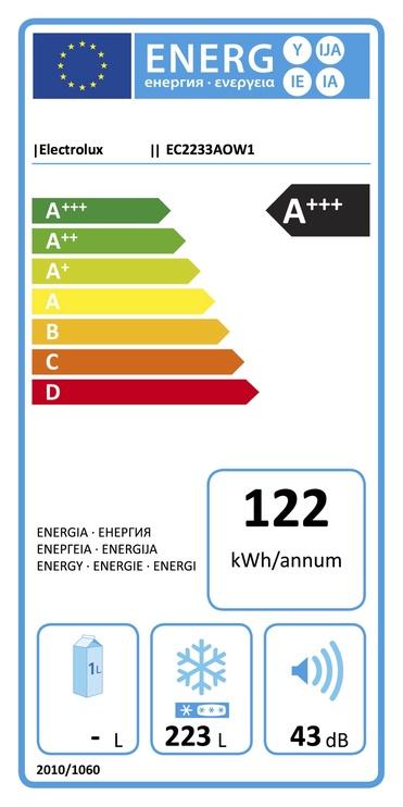 Horizontālā saldētava Electrolux EC2233AOW1 223l