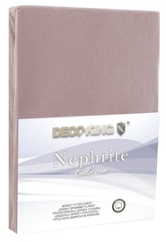 Простыня DecoKing Nephrite, коричневый, 180x200 см, на резинке