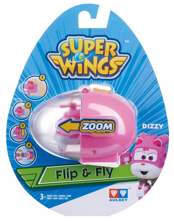 Auldey Super Wings Flip N Fly Plane Dizzy