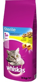 Сухой корм для кошек Whiskas Sterile w/ Chicken 14kg