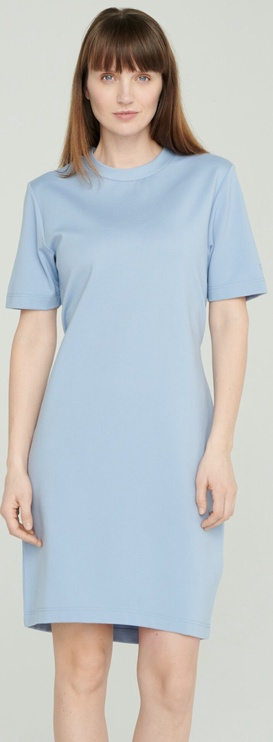 Audimas Stretch Short Sleeves Dress Blue L