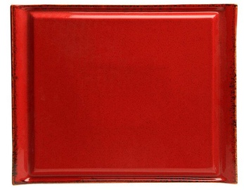 Porland Seasons Steak Plate 32.4x25.9cm Red