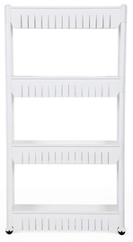 Songmics Kitchen Storage Rack 54.5x102.5x12.7cm White