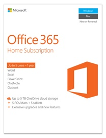 Microsoft Office 365 Home Subscription 1 Year Electronic Licence Russian