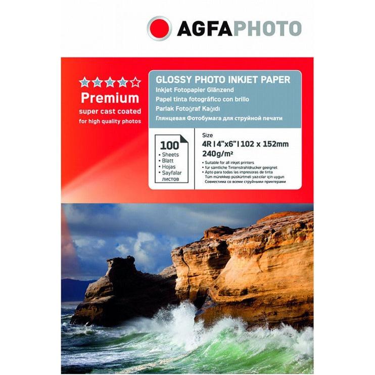 Фотобумага AgfaPhoto Premium Glossy Photo Inkjet Paper A6 100pcs