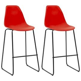 Bāra krēsls VLX Bar Chairs 281511, sarkana, 2 gab.