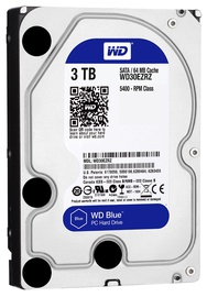Western Digital Blue HDD 3TB 5400RPM SATA3 64MB WD30EZRZ