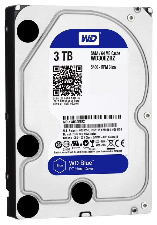 Western Digital Blue HDD 3TB 5400RPM SATA3 64MB WD30EZRZ
