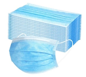Baner Disposable 3-layer Protective Hygienic Face Mask Blue 50pcs