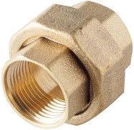 "Sobime Cone Union Adapter Brass 1"" FF"