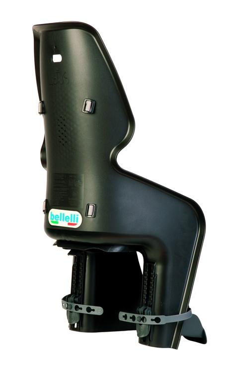 Детское кресло для велосипеда Bellelli Lotus Standard 01LOTSB0000, черный, задняя