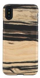 Man&Wood White Ebony Back Case For Apple iPhone X/XS Black