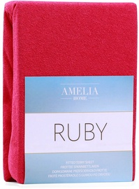 AmeliaHome Ruby Frote Bedsheet 80-90x200 Maroon 66