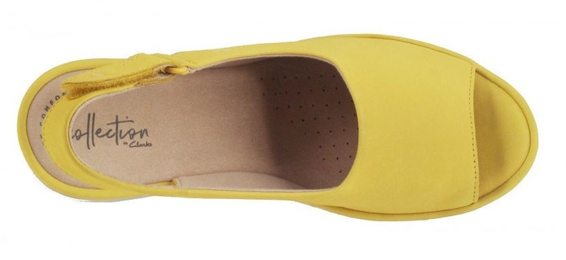 Clarks 26140708 Reedly Shaina Yellow Nubuck 39.5