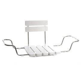 Sēdeklis vannai ar atloku BS-03 73-88cm, balts