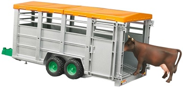 Bruder Cattle Transport Trailer With Cow 02227