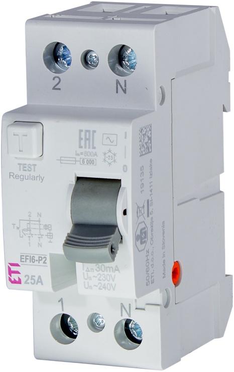 Eti RC Circuit Breaker EFI6-P2 AC 25/0.03