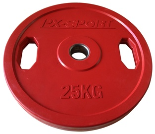 PX Sport Weight Disc Red Rubber 25kg