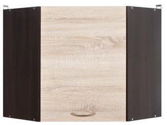 Augšējais virtuves skapītis Black Red White Junona Line GNWU/57 LP Wenge/Sonoma Oak, 600x600x573 mm